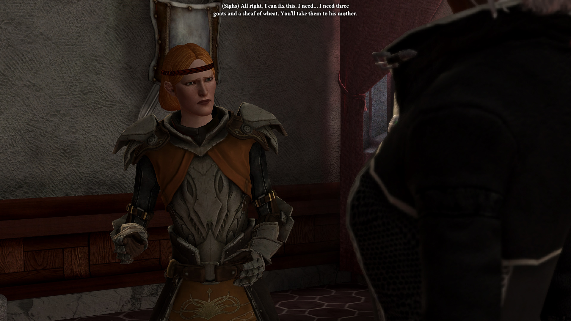 Aveline being not that great in the romance department